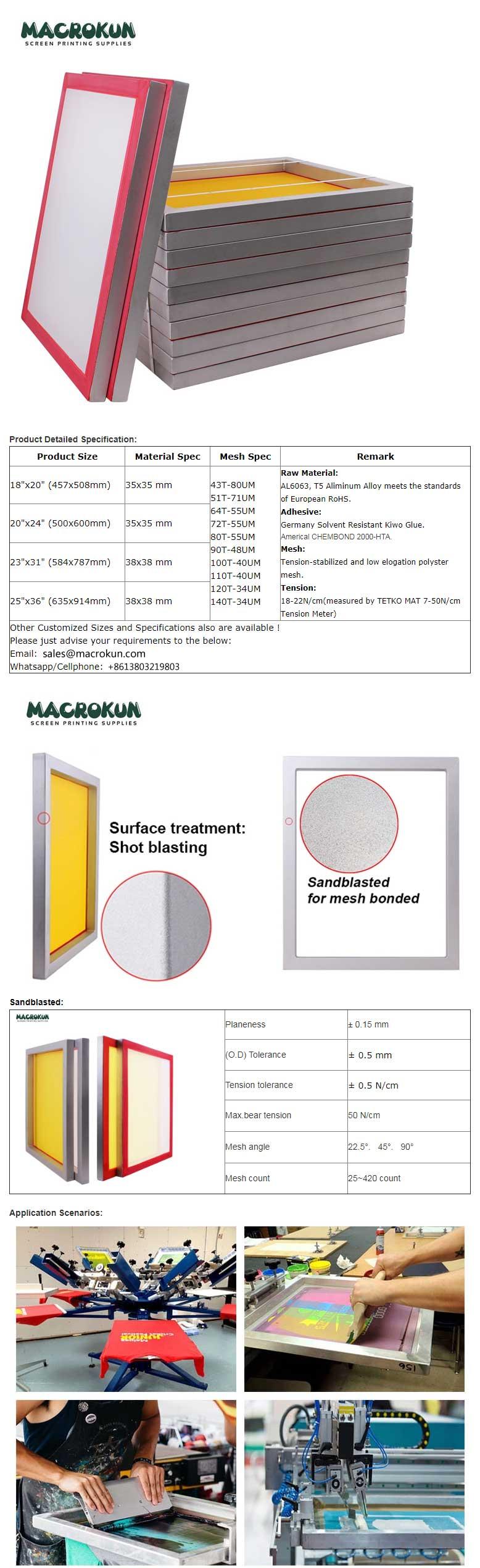 Aluminum screen printing frame-Aluminum frame