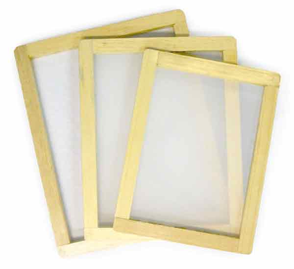 Screen printing screen frame is made of what material?