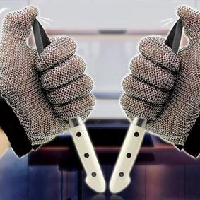 5101-Five Finger Wrist Glove With Textile Strap