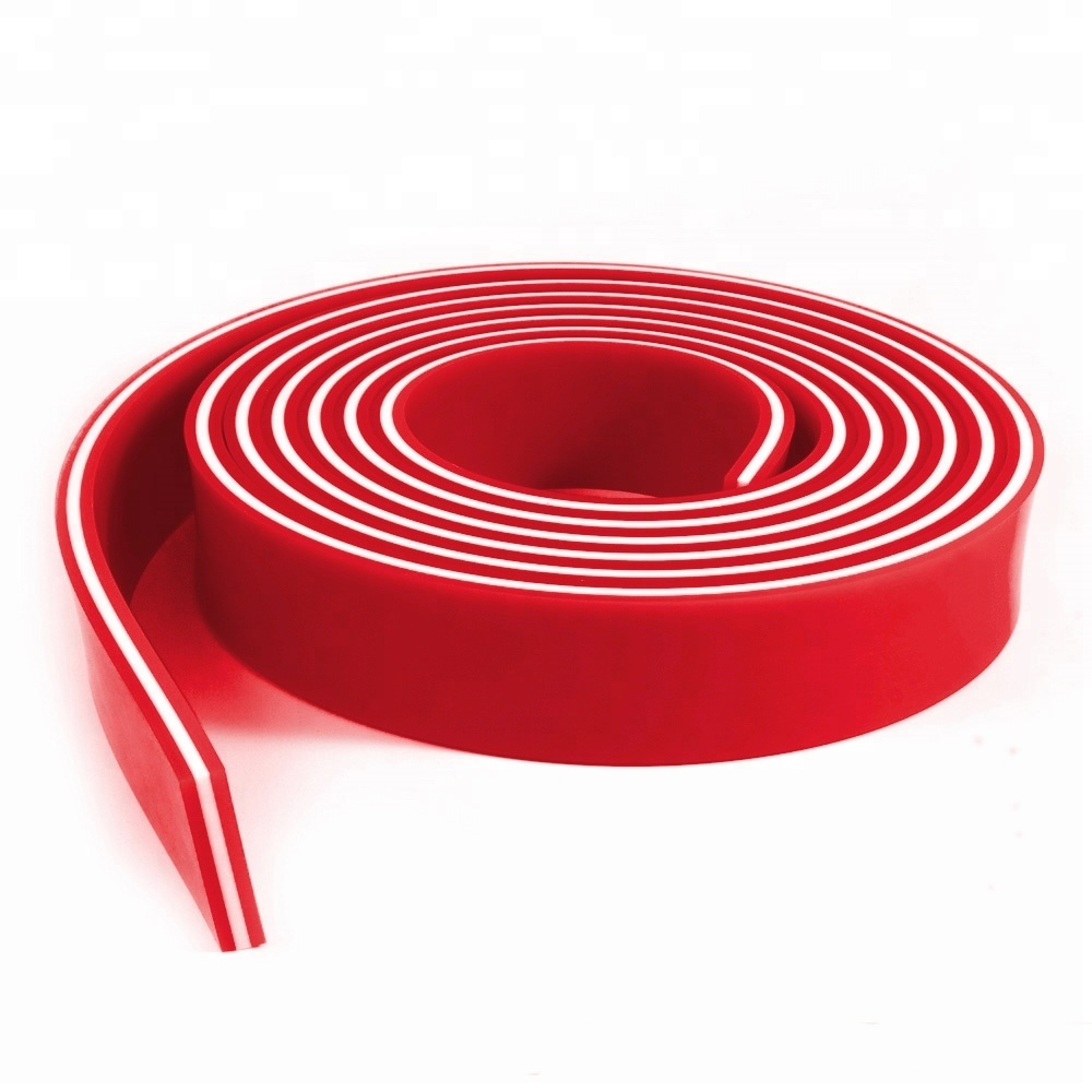 60 Duro Durometer 6 FT//Feet Roll Silk Screen Printing Squeegee Blade RED