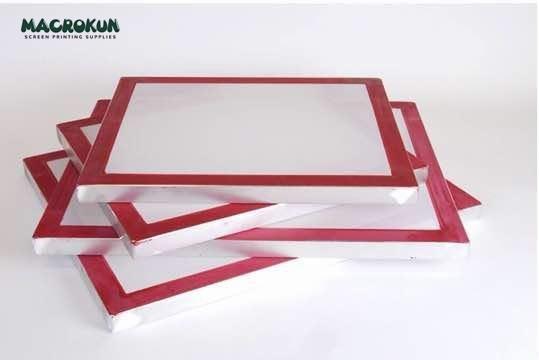 110 White Mesh Silk Screen Printing Screens 20x24 Aluminum Frame Size 4 Pack