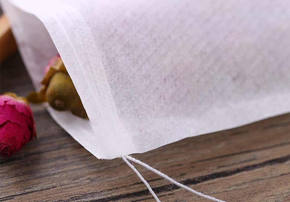 Wholesale Chinese coffee tea filter paper packaging bag with string