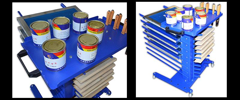 MK-2016GJJ Mobile Type Screen Printing Material Rack