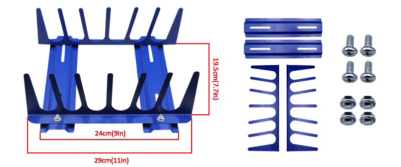 Table type 6 layers squeegee rack
