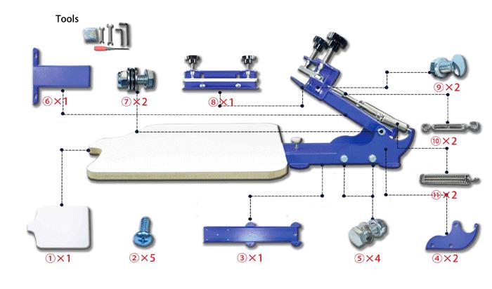 MK-3XWT280 precision micro adjust Screen Printing Machine